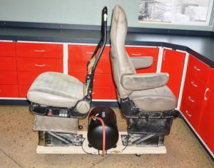 A trial exhibit demonstrating how an air suspension seat functions