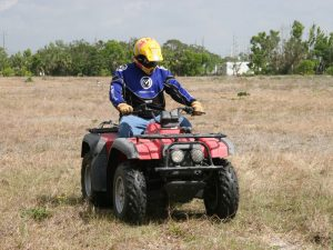 On site testing and failure analysis of an ATV with a design defect.