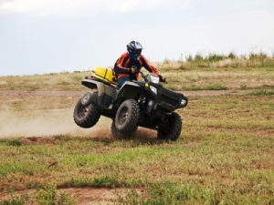 Custom testing of an ATV to confirm the results of an accident reconstruction.