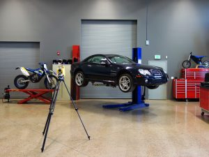 Impact has a wide variety of vehicle lifts. Our lab facility is ideal for vehicle inspections.