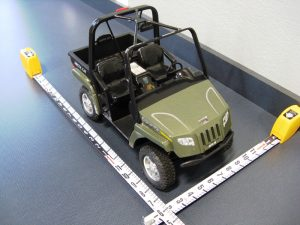 Custom built scale model of a Arctic Cat Prowler UTV used as an exhibit for courtroom demonstrations during expert witness testimony.