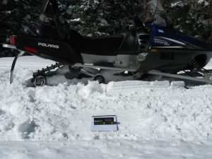 Accident location snowmobile testing